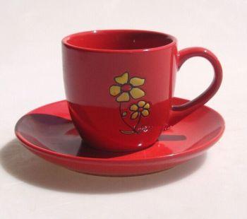2015新款咖啡杯碟手绘花朵牛奶欧式英式陶瓷杯
