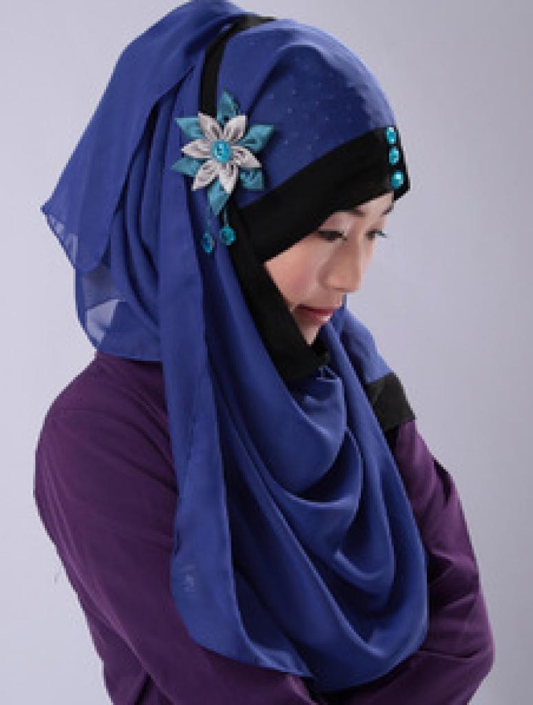 穆斯林头巾 伊斯兰回族盖头长巾