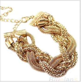 Europe and the United States women's jewelry wholesale metal multilayer woven bracelet bracelet twisted chain