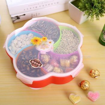 Plum blossom type sealed candy box