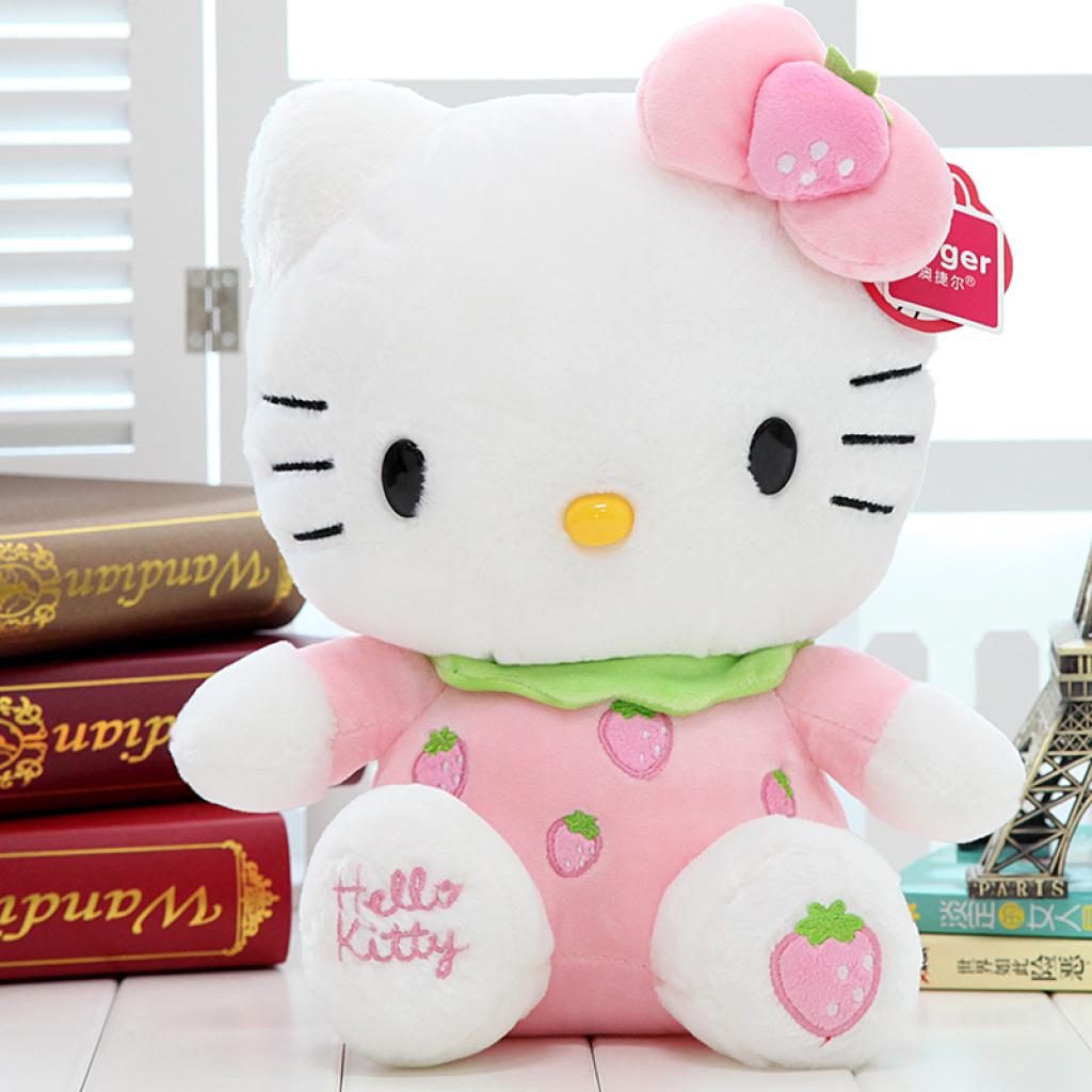 正版hellokitty水果凯蒂猫公仔毛绒玩具kt猫抱枕