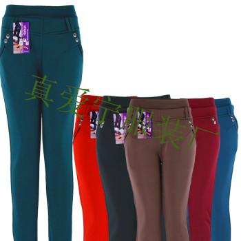 In the elderly with thick warm pants velvet Leggings multicolor optional