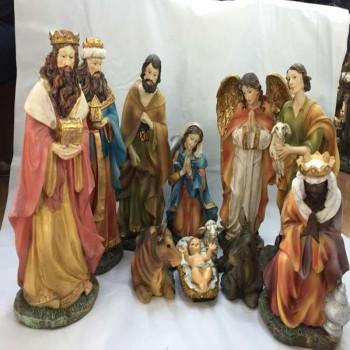 The Catholic Holy art holy Christmas ornaments and a manger Saint infant Kings