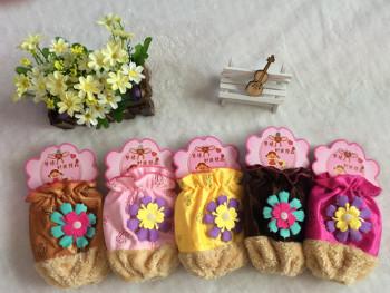 The latest 2015 Korean super soft color stick sun flower Plush fashion cuff