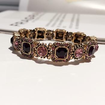 Fashion luxury diamond crystal all-match lace multi simple bracelets bracelets female jewelry trend