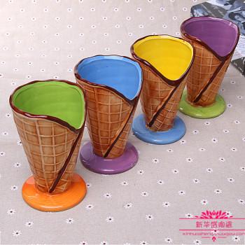 彩绘陶瓷杯大容量创意冰淇淋冷饮杯子 新华盛陶瓷 义乌国际商贸城一区 义乌购