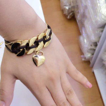 Han Guofeng simulation leather rope chain buckle bracelet