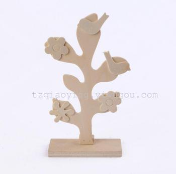 Children's DIY hand painted model tree model toy accessories toys white