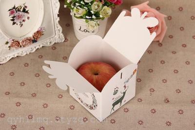 卡通糖果盒 圣诞节苹果盒子 平安夜苹果包装盒 平安果礼盒特厚