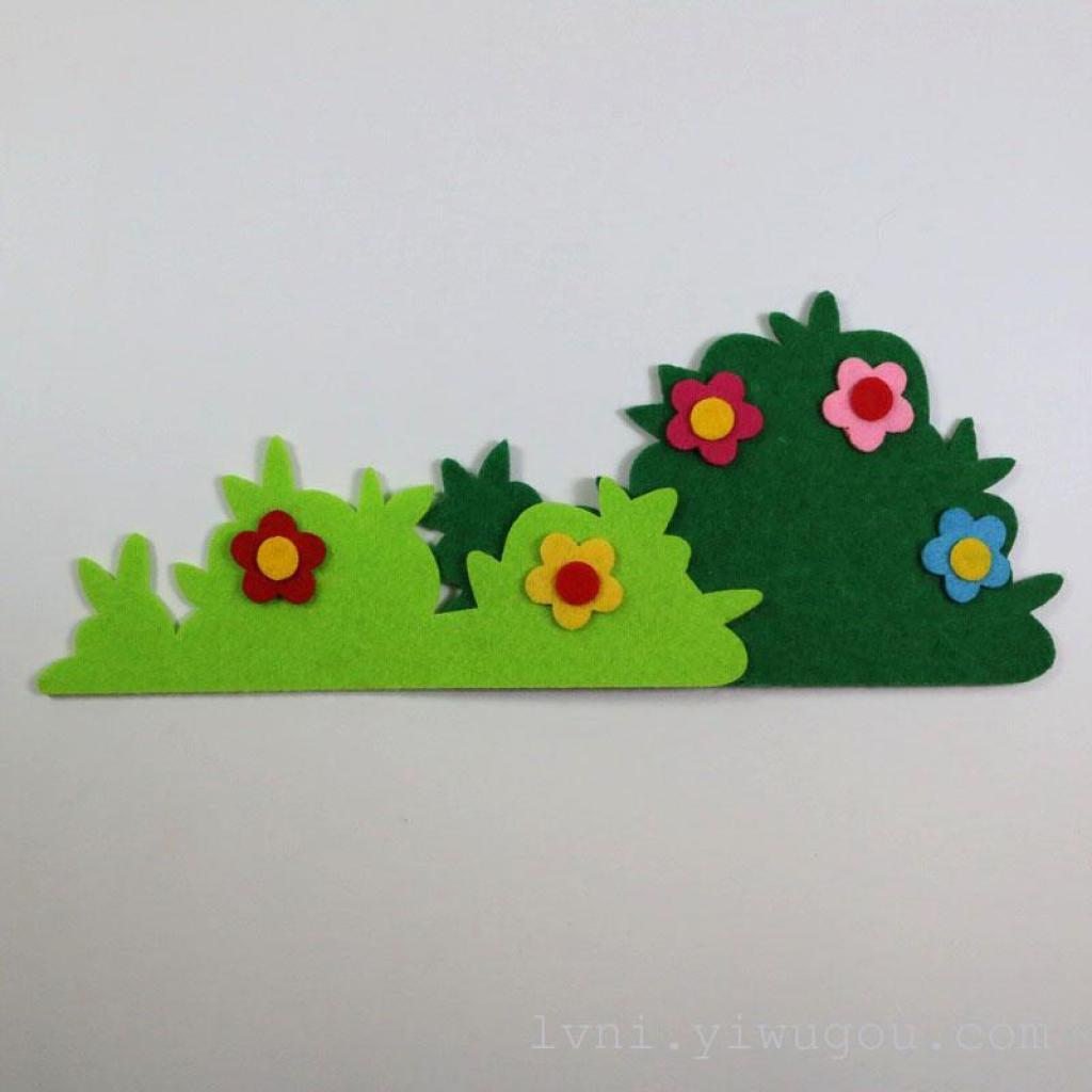 无纺布立体栅栏幼儿园墙饰装饰