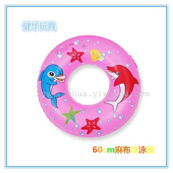 60cm Inflatable Kids Swim Ring Beach Sea Children Swimming Pool  Float Water Toys