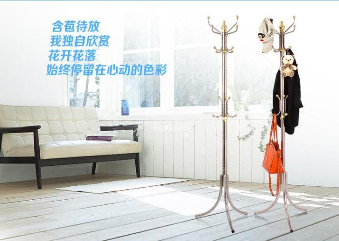 不锈钢衣帽架加厚时尚创意衣挂架欧式室内晾衣架卧室