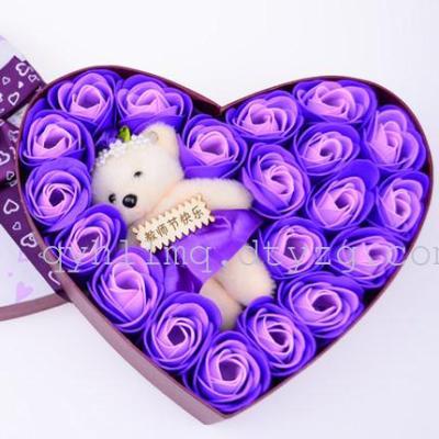 圣诞节礼物送女生闺蜜老婆男生日礼品活动创意实用香皂花