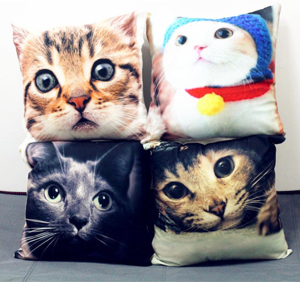 可爱猫咪喵星人汽车沙发靠垫靠枕