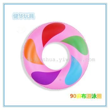 90cm Inflatable Kids Swim Ring Beach Sea Children Swimming Pool  Float Water Toys