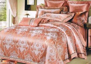 欧式贡缎提花纯棉四件套全棉床单被套1.8/2.0m床上用品