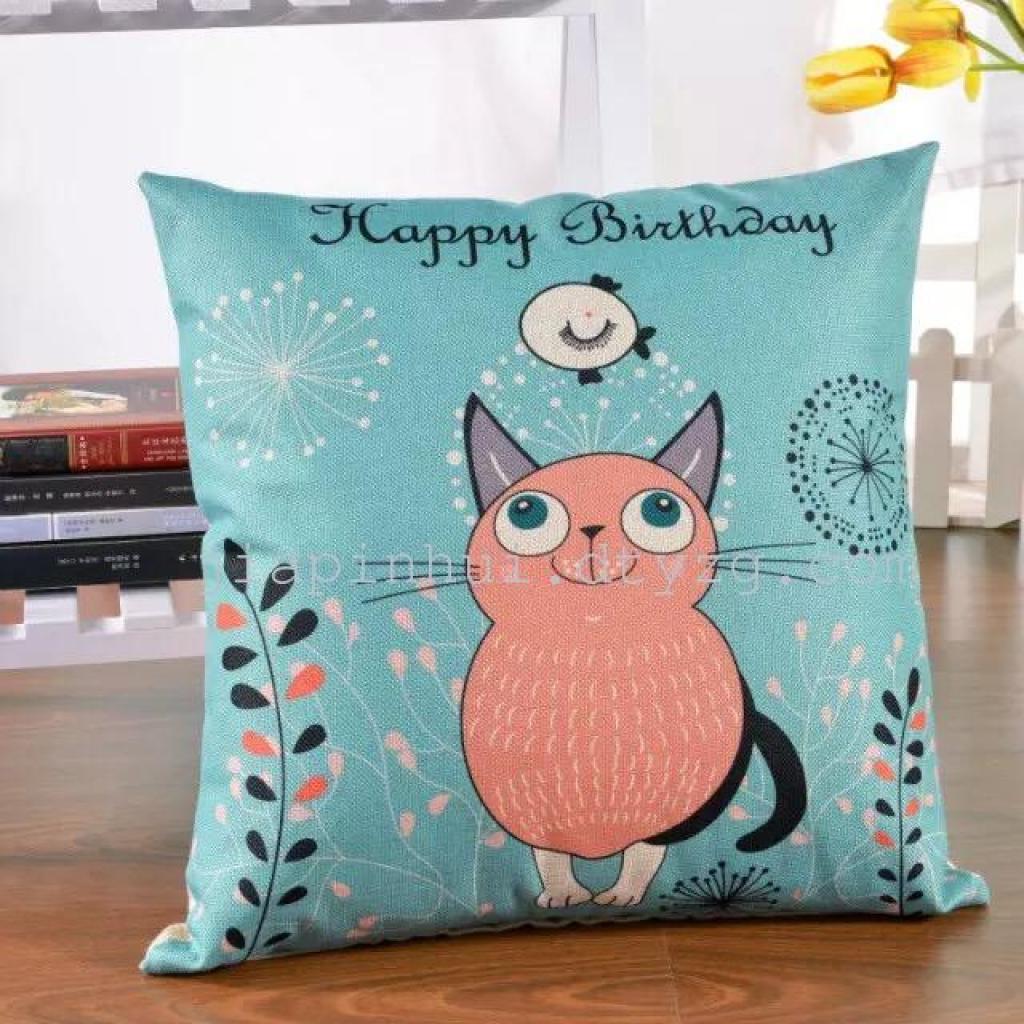 棉麻创意北欧风靠垫抱枕办公室靠枕抱枕沙发靠垫抱枕套