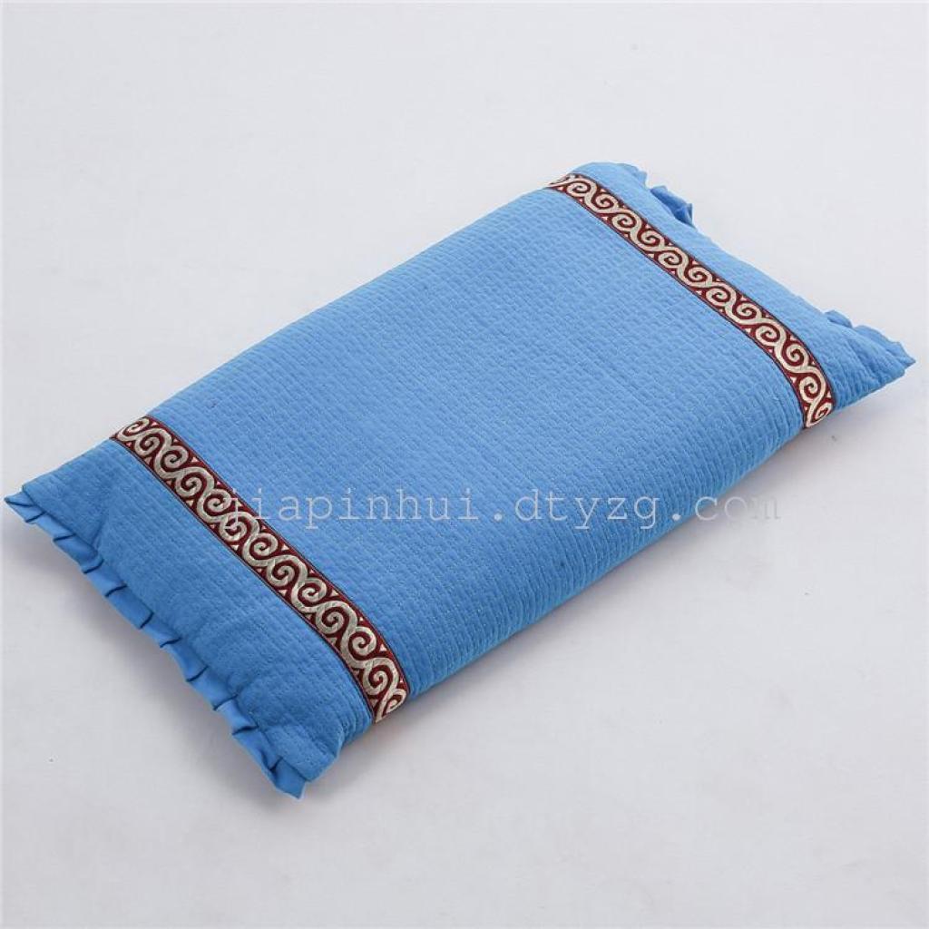 全棉荞麦皮花边枕头 护颈保健枕