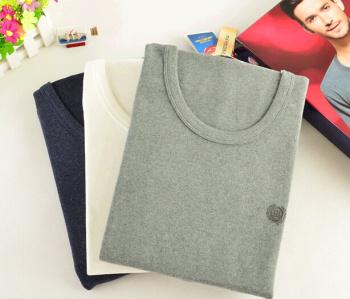 Men's winter Velvet Lycra collar thick warm autumn clothes long underwear underwear set