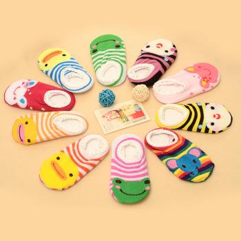 Children's cartoon non slip boat socks baby floor socks toddler slip children socks