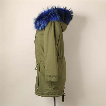 2015 new winter dress thickening real fur collar Military Jacket Coat Jacket