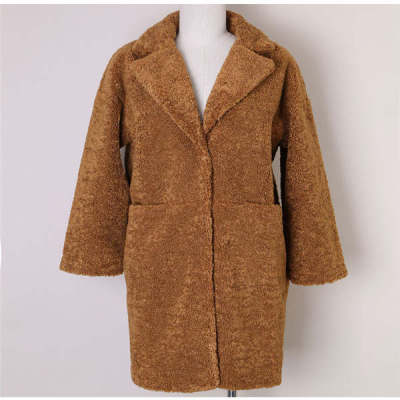 2015 new winter thickened sheep shearing in the long section of women's clothes