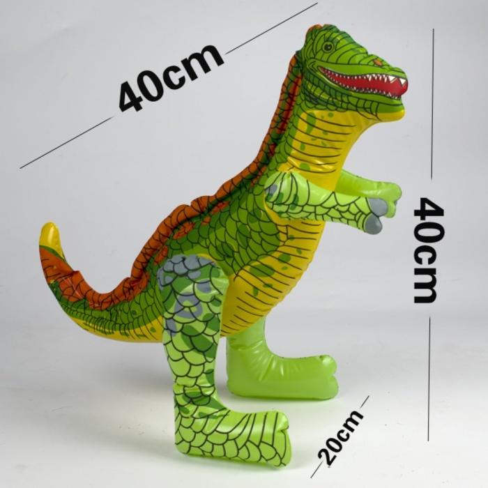 物系列 卡通 霸王龙食肉龙 恐龙铝膜气球彩色PVC小恐龙