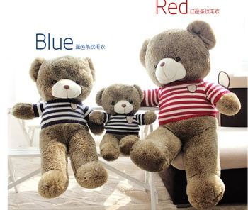 泰迪熊公仔毛衣熊可爱熊毛绒穿衣玩具熊大号熊娃娃