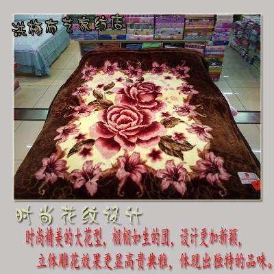 皮尔卡丹 压花毛毯  冬季超柔  加厚双层 高端特价包邮毯子