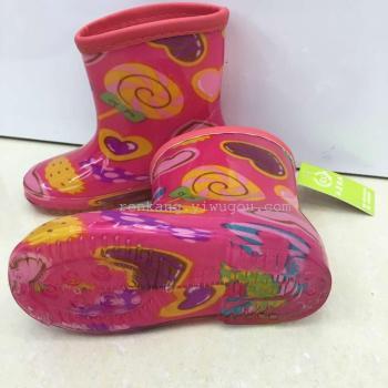 韩版卡通可爱儿童雨鞋 水鞋