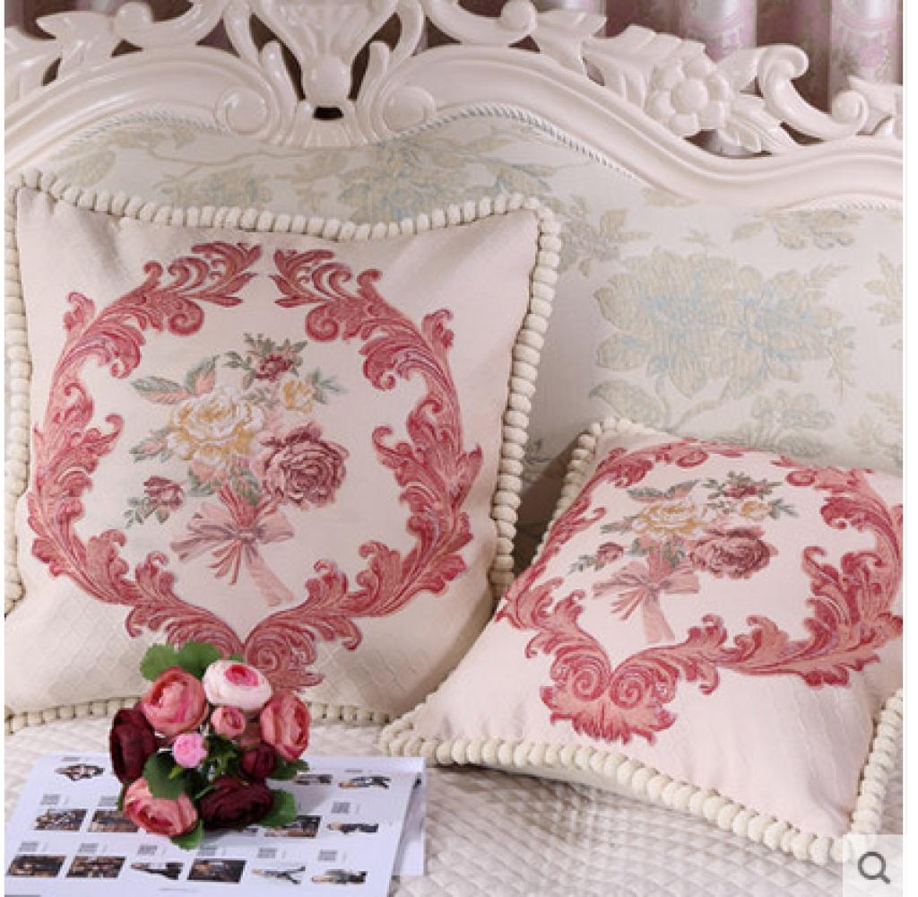 奢华欧式提花浮雕抱枕