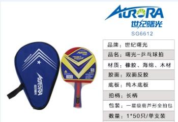 Table tennis racket SG6612/SG6616