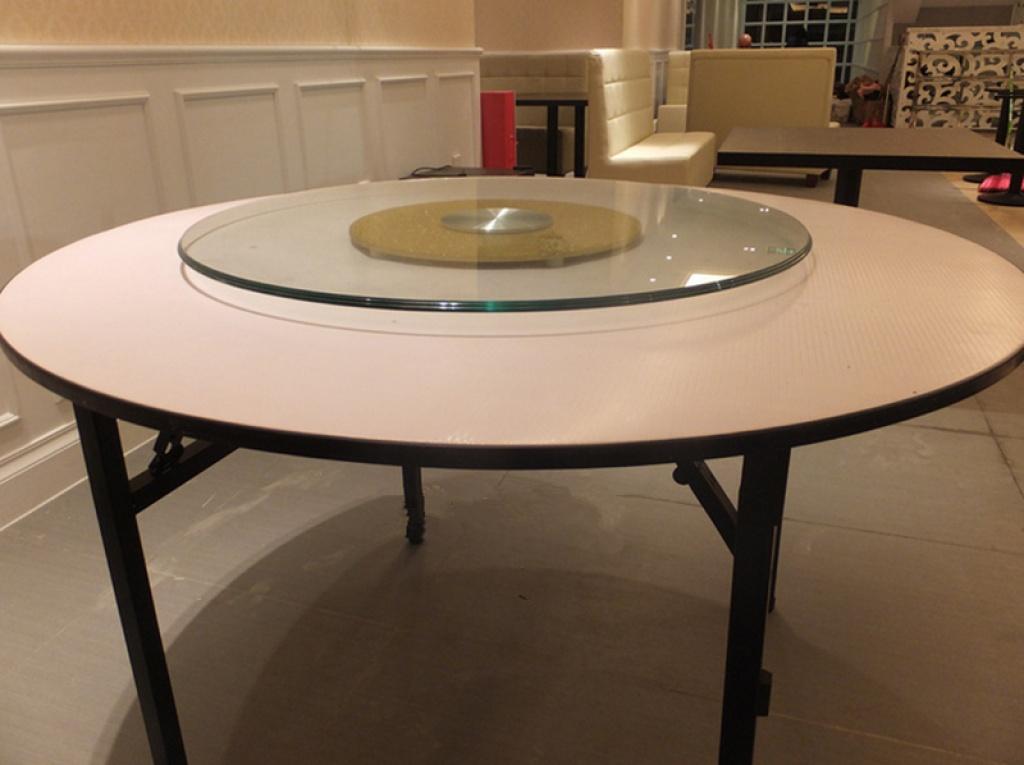 厂家直销餐桌钢化圆桌玻璃 电动玻璃转盘