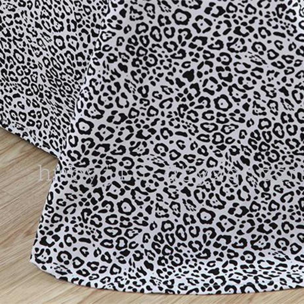 全棉四件套 条纹纯棉简约黑白方格四件套时尚 欧式风格 豹纹