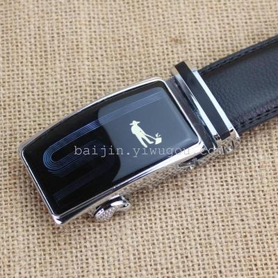 The five inch 125 automatic buckle leather cow leather belt belt male man