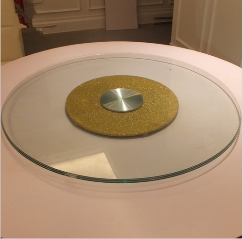 Factory direct table tempered glass electric glass turntable