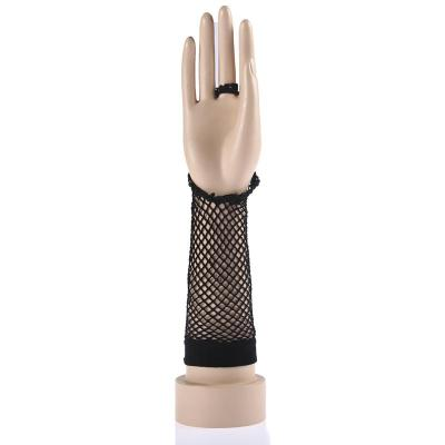Hot fashion sexy lace cuff mesh gloves to buckle