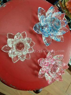 Fine crystal lotus decoration crafts