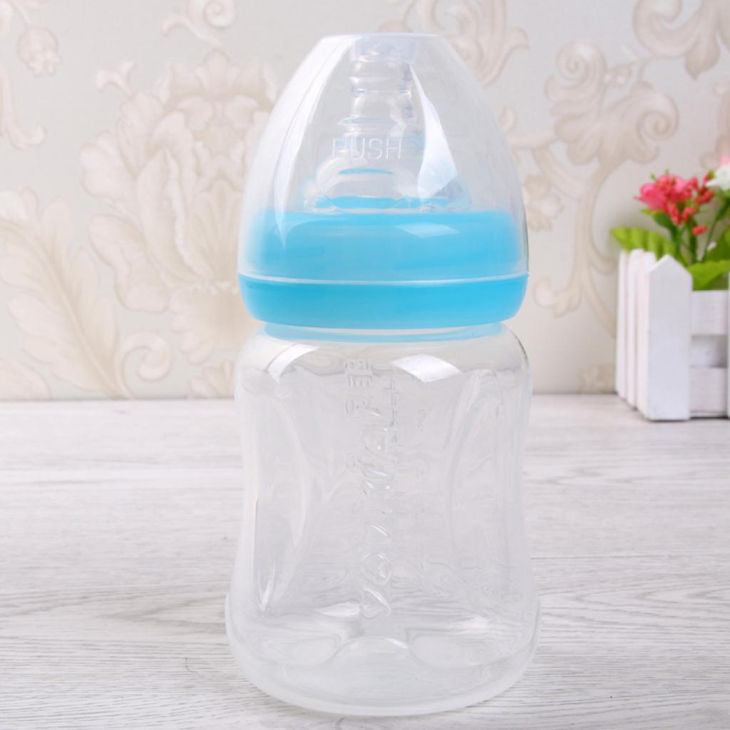 无毒无味透明宝宝奶嘴瓶奶瓶婴儿塑料奶瓶