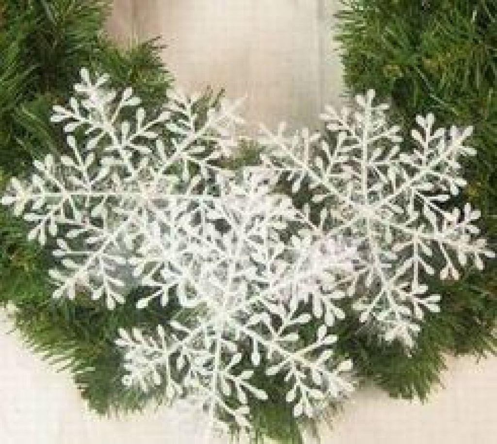 圣诞节雪花片小雪花雪景橱窗布置圣诞树装饰品婚庆礼道具