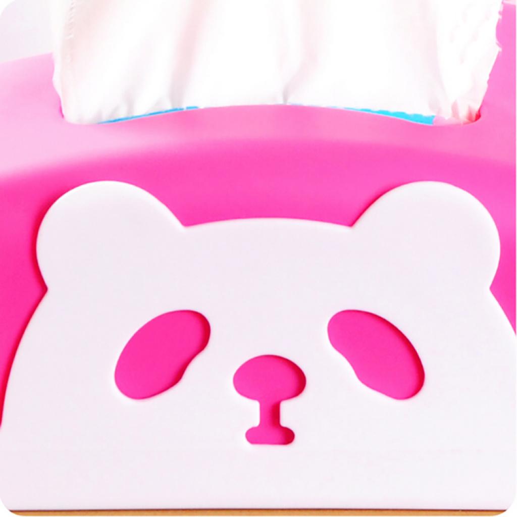 时尚可爱熊猫长方形纸巾盒