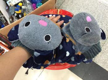 两用手套充电热水袋暖手宝