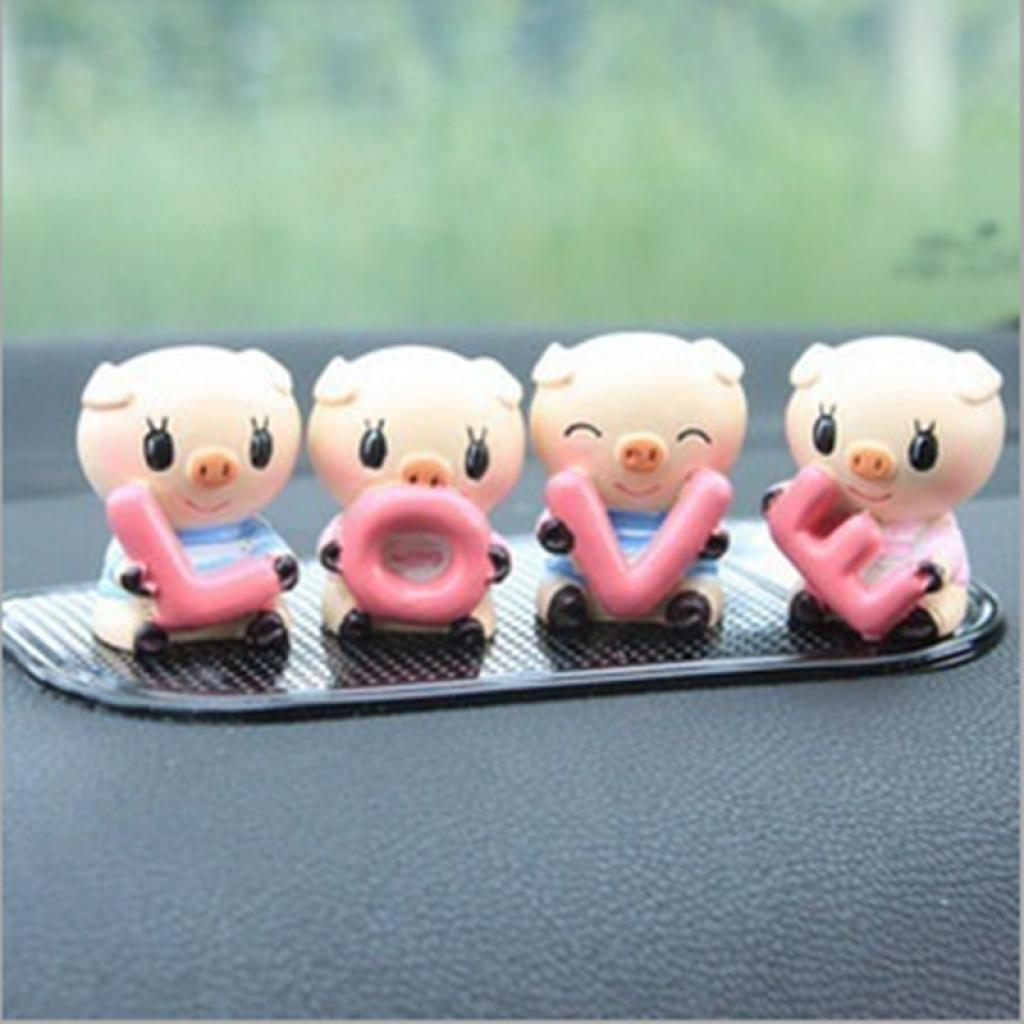 汽车摆件 可爱 love小猪猪内饰装饰套装
