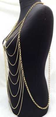Classic style environmental exaggeration original special shaped pearl body chain