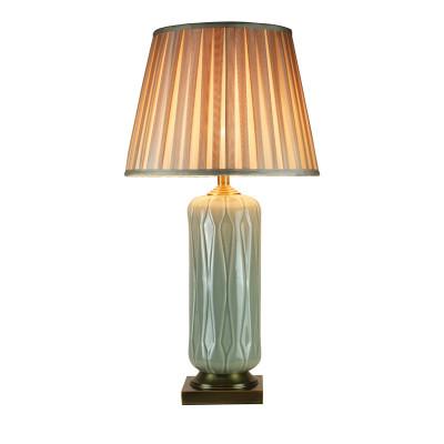 Fine porcelain crack hand throwing copper base export craft porcelain living room bedroom lamp decoration lamp
