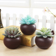 Coffee color ceramic round pots succulents pot manufacturers to support mixed batch