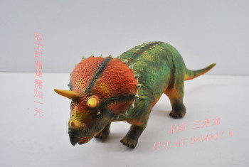 19 inch soft dinosaur Triceratops Dinosaur toy model of cognitive science and educational toys