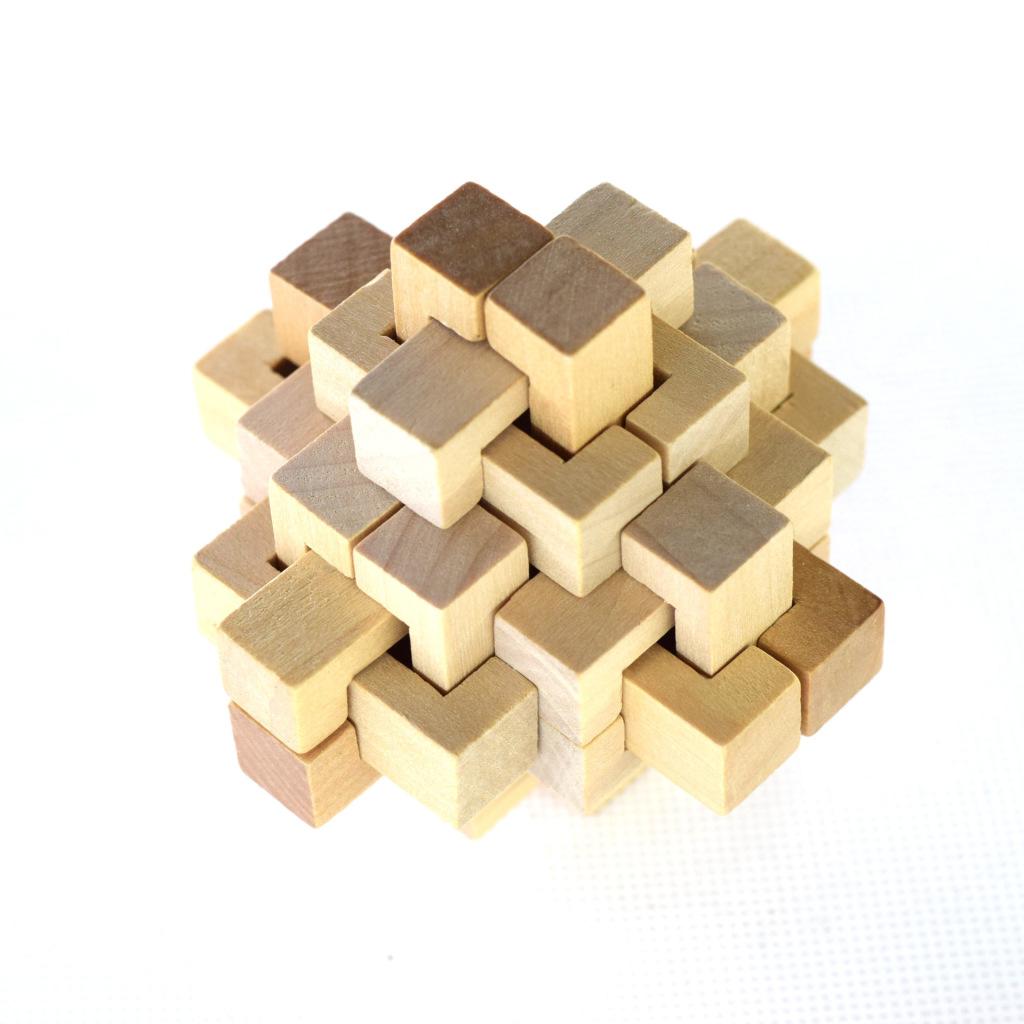 孔明锁鲁班锁二十四锁木制玩具益智玩具