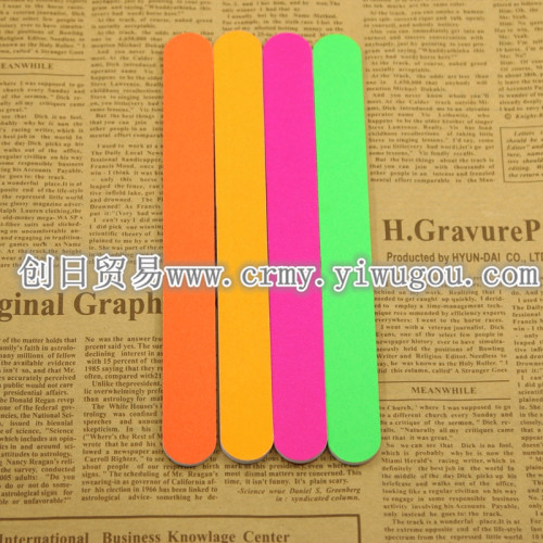 The supply of high-quality sponge fluorescent color nail file sandpaper file