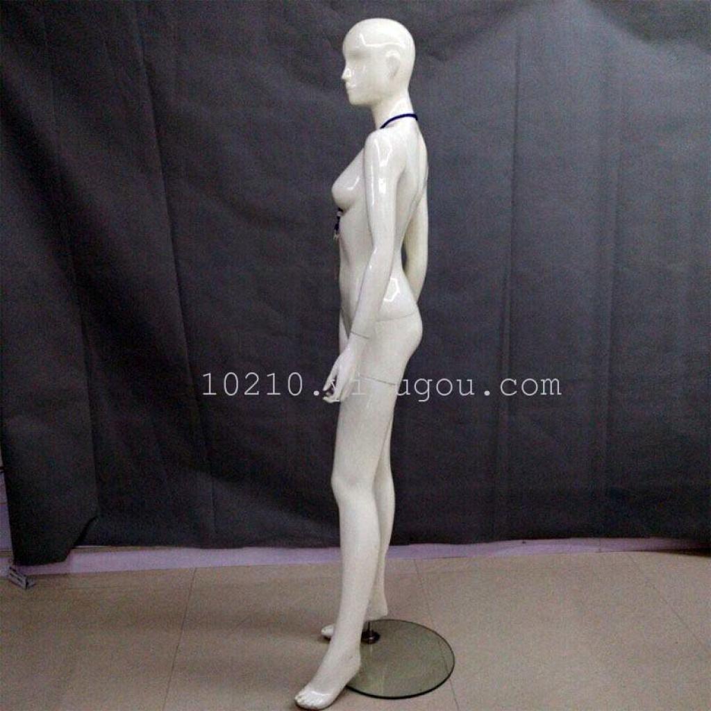 服装店橱窗展示婚纱内衣假人模特 道具女全身亮白内衣